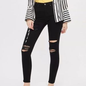TOPSHOP Moto Leigh Super Ripped/Destroyed Jeans 26